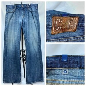 COH Men's Evans Relaxed Straight Distressed 37x32